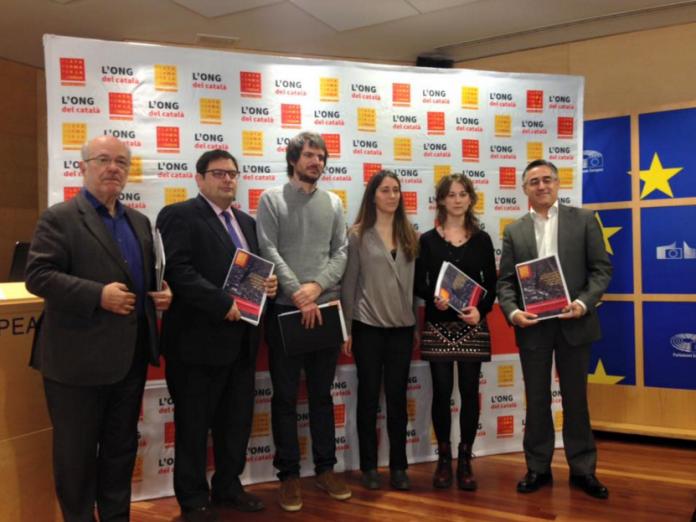 Moment de la presentació de l'informe als europarlamentaris