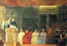 Pintura que representa el Compromís de Casp. Final de la dinastia del Casal de Barcelona.