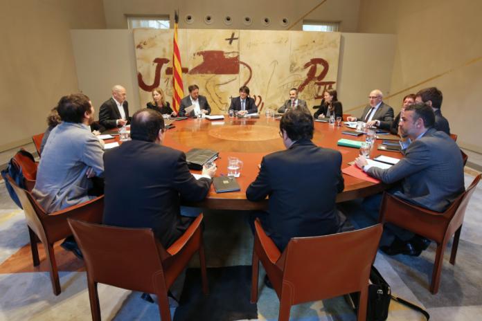 Foto de la reunió del Govern. Autor: Rubén Moreno