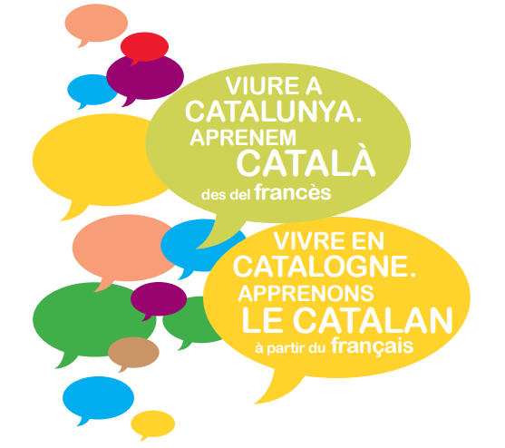 """Coberta de la guia """"Viure a Catalunya. Aprenem català des del francès"""