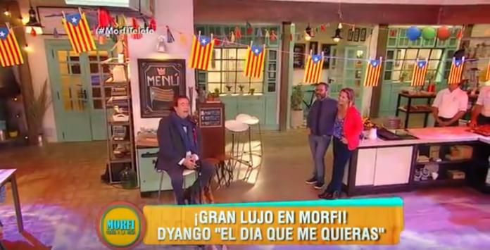 Dyango en plena actuació durant el programa de televisió