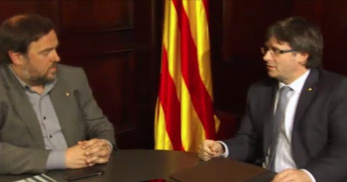 Trobada d'Oriol Junqueras amb Carles Puigdemont