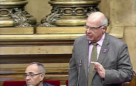 Lluís Rabell durant la seva intervenció Parlamentària