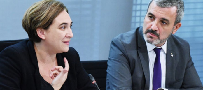 Ada Colau i Jaume Collboni (Fotografia d'arxiu)