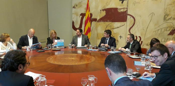 Reunió del consell Executiu de la Generalitat de Catalunya