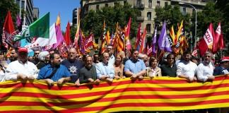 Capçalera de la Manifestació del 29M   Govern