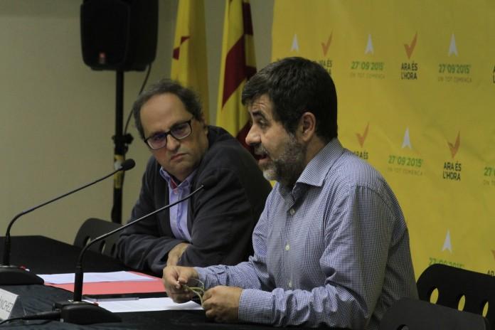 Quim Torra i Jordi Sánchez en un acte | ANC