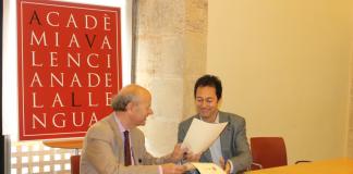 Signatura de l'acord entre el Termcat i l'Acadèmia Valenciana de la Llengua