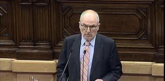 El Síndic de greuges presentant l'informe anual al Parlament de Catalunya