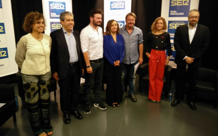 Els candidats catalans a les eleccions del 26-J, abans del debat a la SER (Fotografia: Cadena SER)
