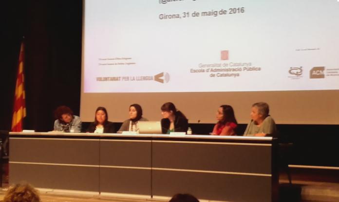 """Les direccions generals de Política Lingüística (DGPL) i d'Afers religiosos (DGAR) i el Consorci per a la Normalització Lingüística (CPNL) van organitzar a Girona la """"Jornada sobre el Voluntariat per la llengua amb parelles interreligioses: una bona pràctica d'acollida"""" per tal de reconèixer i difondre l'experiència de les parelles lingüístiques entre persones de diferents religions i incentivar-ne la creació (31 de maig de 2016)"""