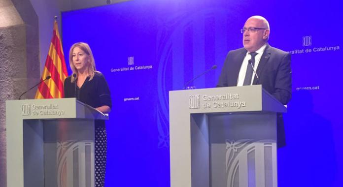 Roda de premsa del Govern de la Generalitat