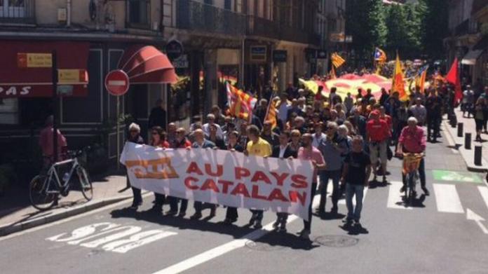 Capçalera de la manifestació (Fotografia F3LR J.Lopez)