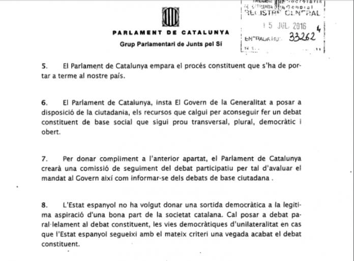 Conclusions de JxSí per la Comssió de Procés Constituent