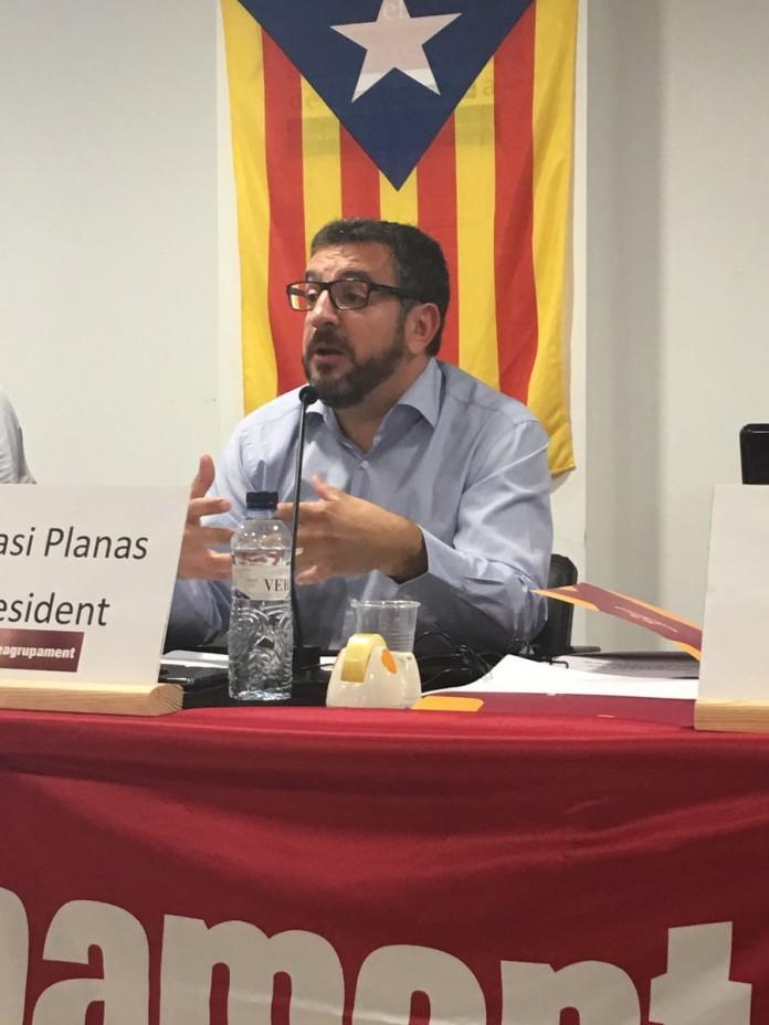 Ignasi Planas en l'assemblea de Reagrupament | Reagrupament