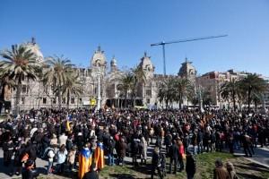 Manifestació d'Escola en Català davant el TSJC | Jordi Borràs
