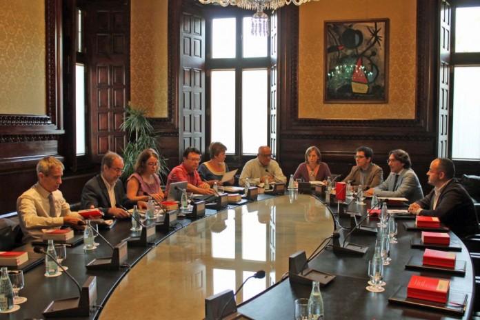 La mesa del Parlament reunida el 20 de juliol del 2016