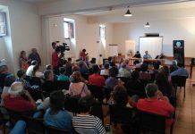 Imatge de la reunió de treball de la Federació Llull (fotografia: Òmnium Cultural)