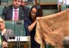 Linda Burney durant el seu primer discurs al Parlament australià