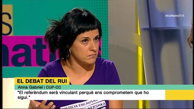 Anna Gabriel entrevistada en el Programa Els Matins de TV3 (5/9/2016)