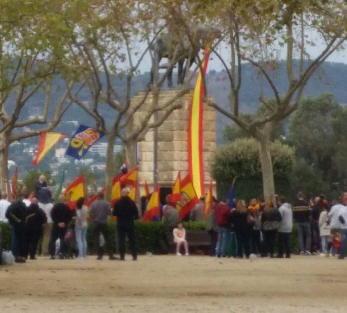 Concentració de la ultradreta a Montjuïc el 12-O