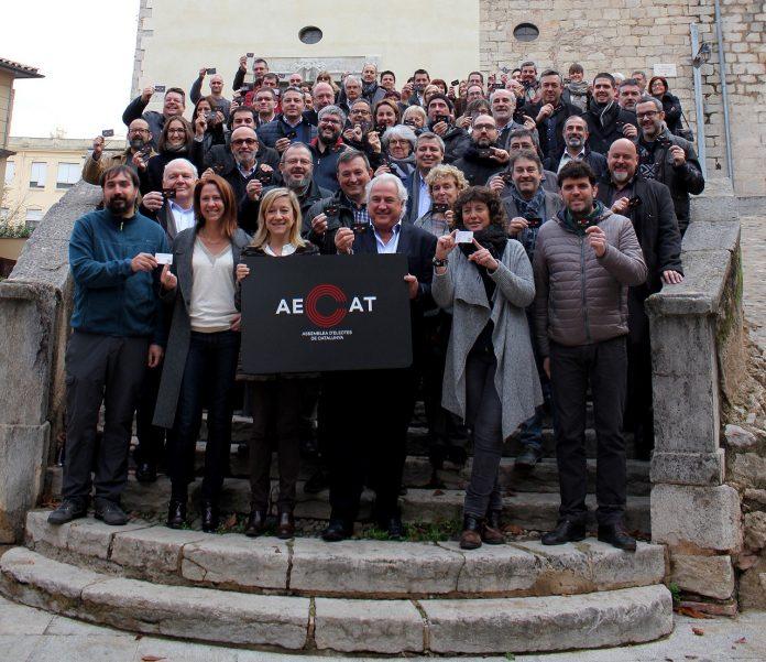 Foto de família dels regidors que han participat de la presentació de l'AECAT a Girona | AMI