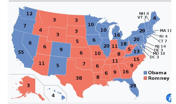 Mapa electoral 2012.