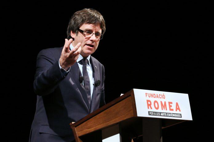 El president durant la conferència | Govern de Catalunya