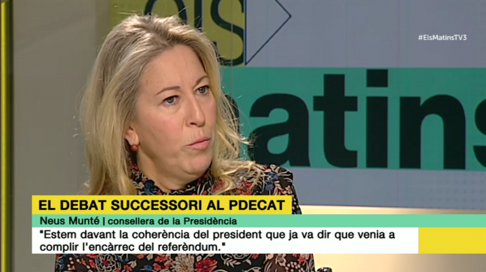 Neus Munté entrevistada a 'Els Matins' de TV3