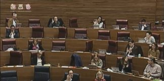Sessió de les Corts Valencianes (8/2/2017)