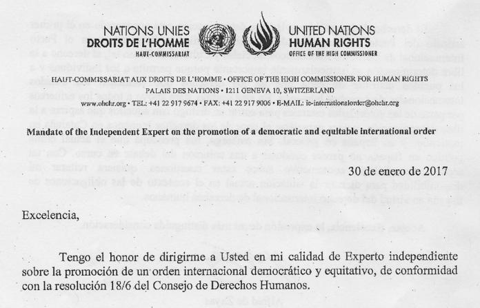 Extracte de la carta enviada per Zayas a l'ambaixadora d'Espanya a Ginebra | CCN