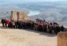 Foto dels assistents a la trobada de l'AECAT a Terres de l'Ebre al Castell de Miravet | AMI