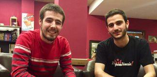 D'esquerra a dreta en David Hernàndez i David Barnet.