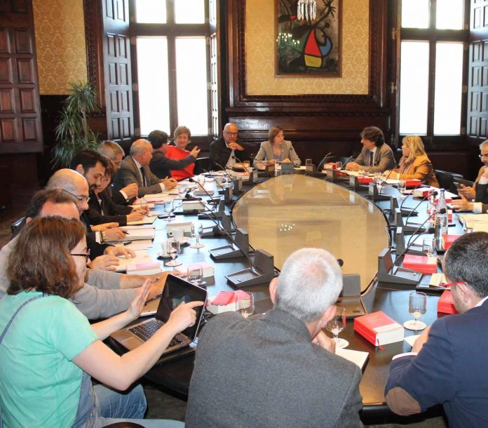 Reunió de la Junta de Portaveus que ha aprovat l'ordre del dia del proper ple   Parlament de Catalunya