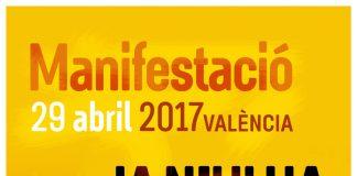 Cartell de la manifestació convocada per Acció Cultural | ACPV