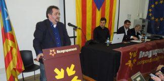 Josep Sort durant el seu parlament a la XI Assemblea | Reagrupament