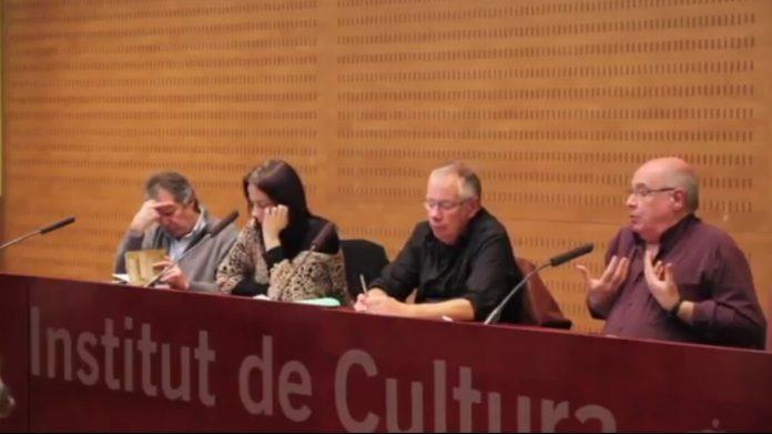 Lluís Rabell en una conferència de l'Institut de Cultura l'any 2014