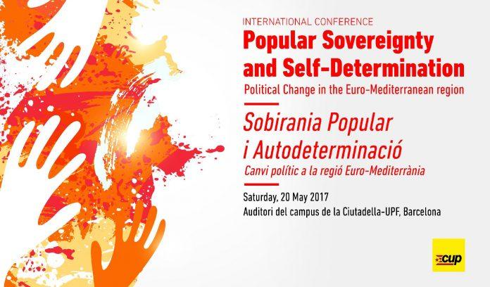 Cartell de la conferència internacional organitzada per la CUP | CUP