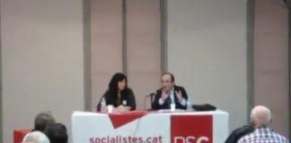 Miquel Iceta en una conferència el 2012 defensant els referèndums sobre la independència
