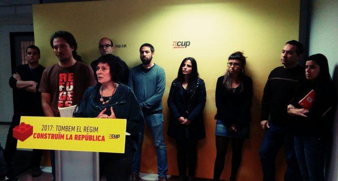 Roda de premsa de la CUP presentant la campanya | CUP