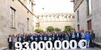 Foto amb els assistents a la presentació per posar de manifest els 93M€ que s'incrementarien en els ingressos esportius del país | Pro Seleccions Catalanes