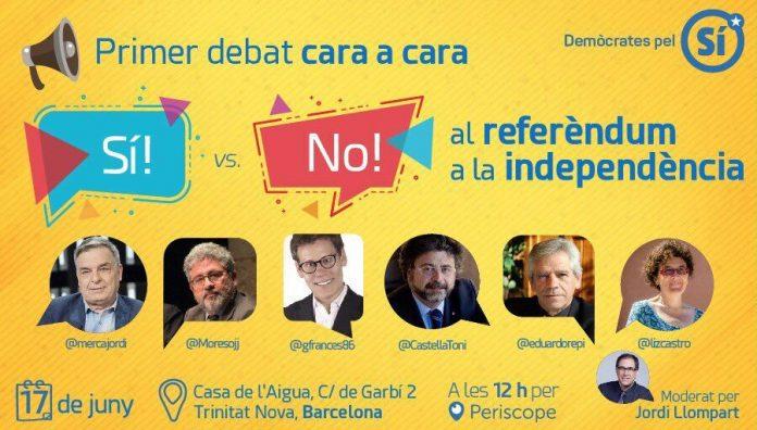 Cartell del debat que tindrà lloc a Nou Barris