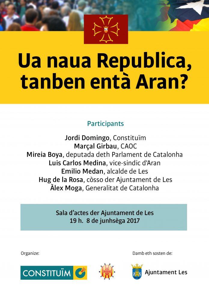 Cartell de l'acte-debat sobre el futur de l'Aran