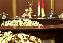 El president Kurd Masoud Barzani reunit amb els líders polítics regionals a Erbil