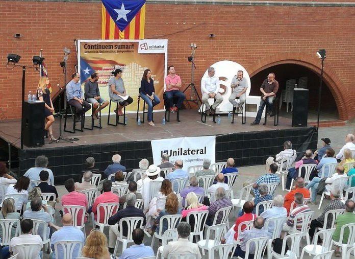 Imatge de l'acte unitari pel SÍ a Vilassar de Mar