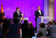 President Carles Puigdemont i vicepresident Oriol Junqueras