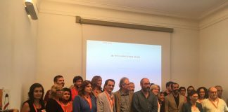Moment de la presentació de la campanya 'Escoles Obertes' | Òmnium Cultural