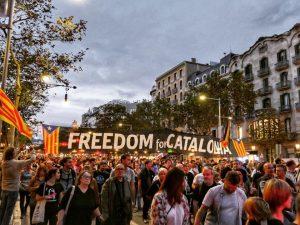 Moment de la manifestació del 21 d'octubre. Font: Joan Albert Pons
