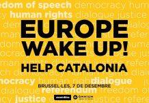 Cartell de la manifestació a Brussel·les
