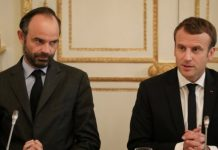 El primer ministre francès, Édouard Phillipe i el president Emmanuel Macron